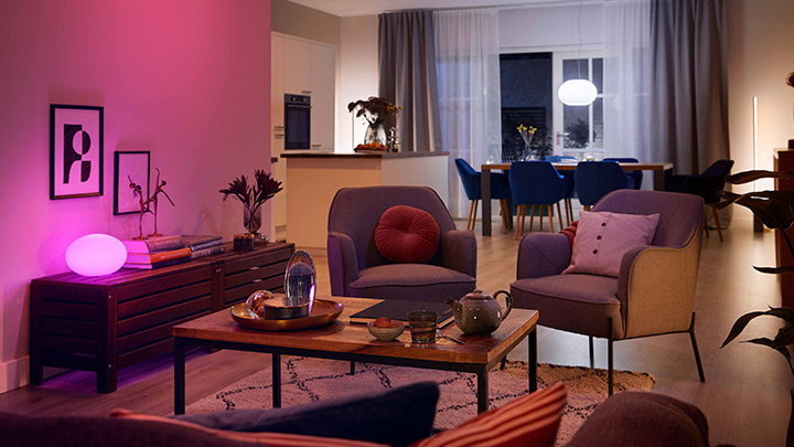 Set the perfect look and feel in your room with new Philips Hue with Bluetooth